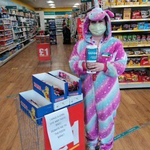 Poundland Team Member Dressed as Bunny