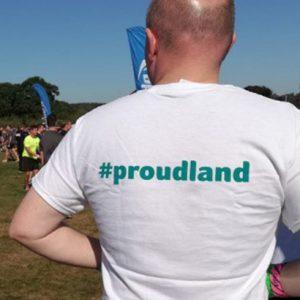 Man in Proudland T Shirt